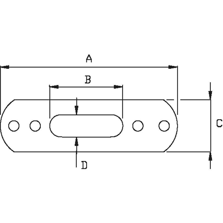Festeplate for T-terminal