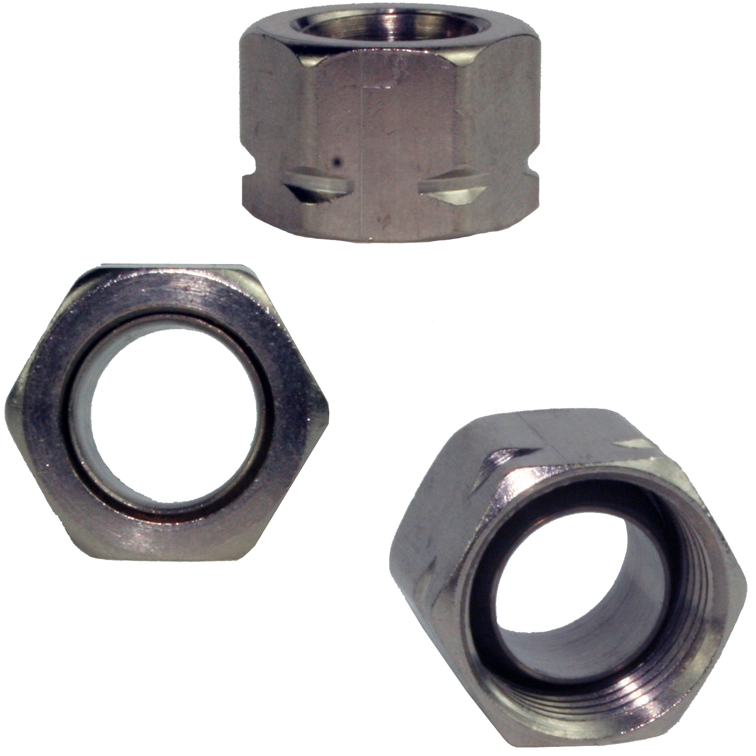 "3/8"" mutter for hydraulisk styring - 1 stk."